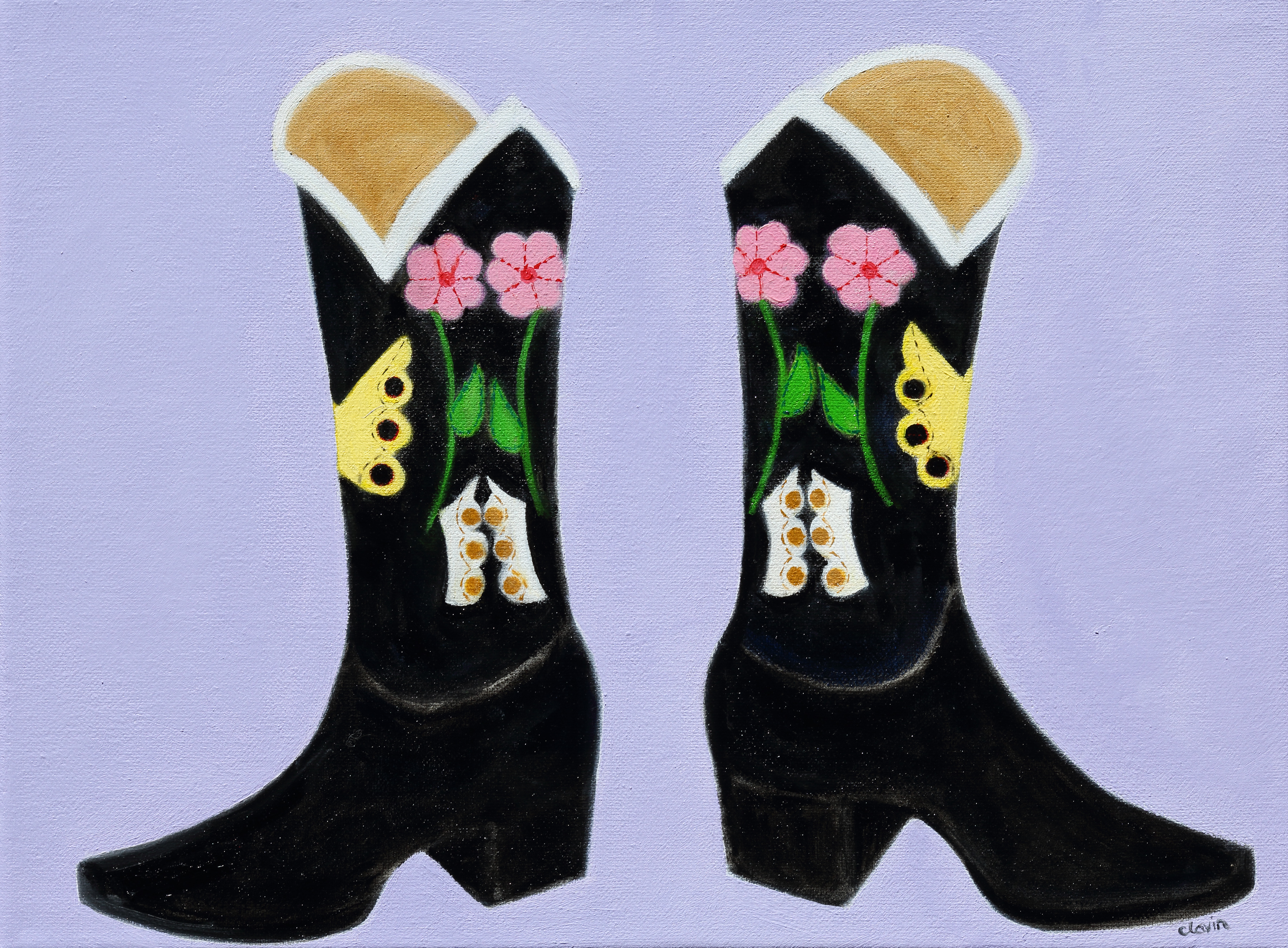 Cowgirl boots  14x18  $400.00